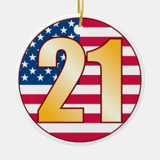 21 USA Gold.pdf Ceramic Ornament