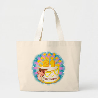 21 Year Old Birthday Mouse custom name tote bag