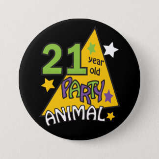 21 Year Old Party Animal | 21st Birthday 3 Inch Round Button