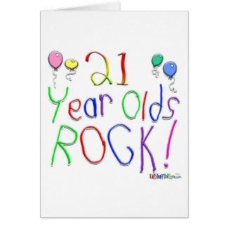21 Year Olds Rock! Greeting Card