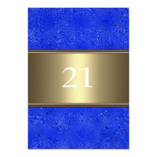 21ème anniversaire d'équilibre en bronze bleu carton d'invitation  12,7 cm x 17,78 cm