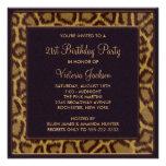 21ème invitation de fête d'anniversaire de léopard