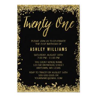 21èmes invitations d'anniversaire d'or de