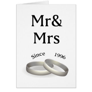 21st anniversary matching Mr. And Mrs. Since 1996 Card