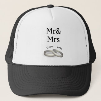 21st anniversary matching Mr. And Mrs. Since 1996 Trucker Hat