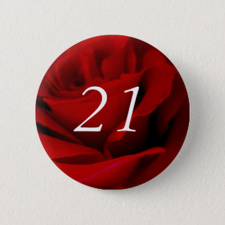 21st Birthday 2 Inch Round Button