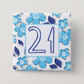 21st Birthday 2 Inch Square Button