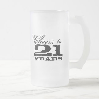 21st Birthday Beer Mug for men | Cheers to 21 year