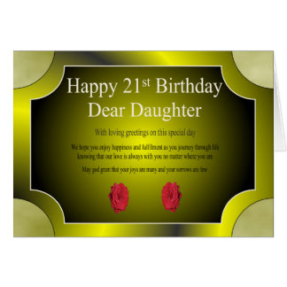 21st Birthday Card (Daughter)