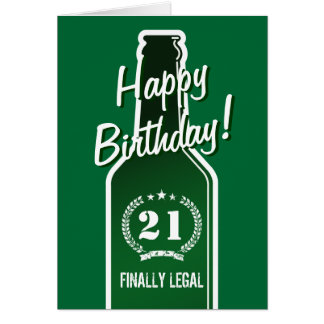21st Birthday card for son | Beer finally legal