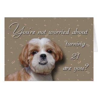 21st Birthday Dog Card