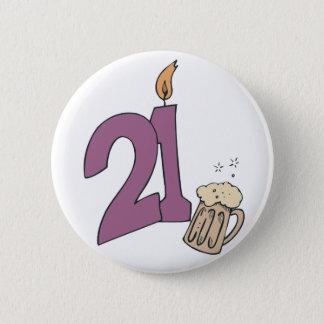 21st Birthday Drinks 2 Inch Round Button