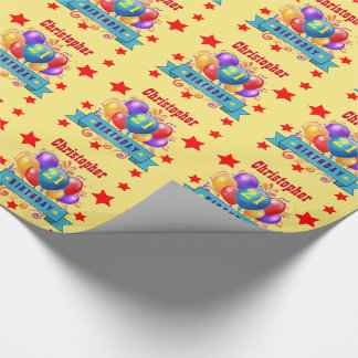 21st Birthday Festive Colorful Balloons C01AZ Wrapping Paper
