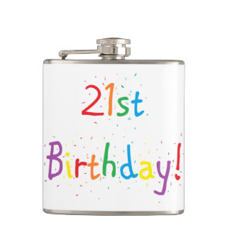 """21st Birthday"" Flask"
