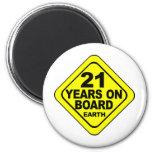 21st Birthday Fridge Magnets