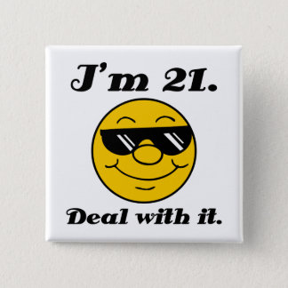 21st Birthday Gag Gift 2 Inch Square Button