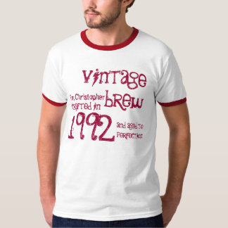 21st Birthday Gift 1992 Vintage Brew Name For Him T-Shirt