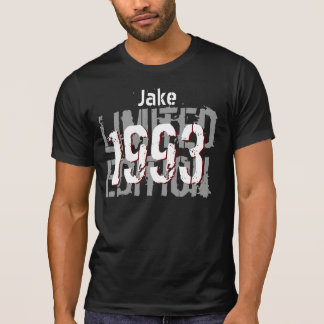21st Birthday Gift 1993 Limited Edition Black Gray T-Shirt