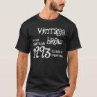 21st Birthday Gift 1993 Vintage Brew Black White T-Shirt