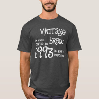 21st Birthday Gift 1993 Vintage Brew Charcoal Gray T-Shirt