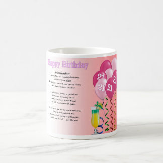 21st Birthday Goddaughter Poem Mug