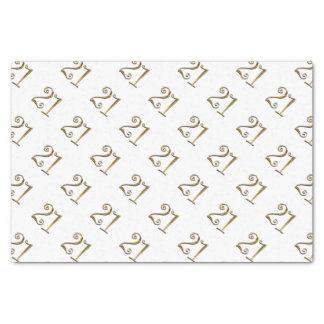 21st birthday gold white elegant tissue paper
