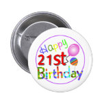 21st birthday greetings buttons
