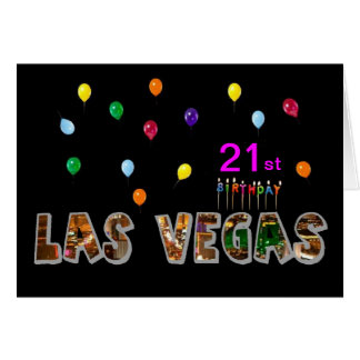 21st Birthday Las Vegas Card