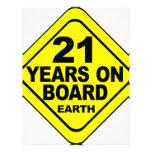 21st Birthday Letterhead