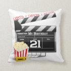21st Birthday Movie Party Throw Pillow