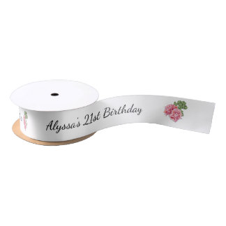 21st Birthday Party Favor Ribbon Satin Ribbon