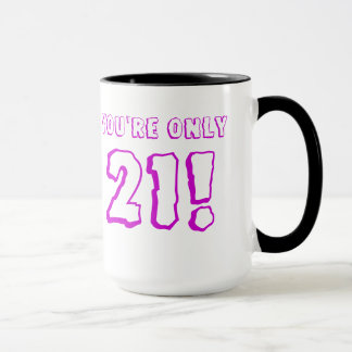 21st Birthday (Purple) Mug