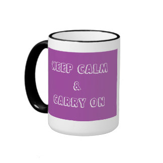 21st Birthday (Purple) Ringer Mug