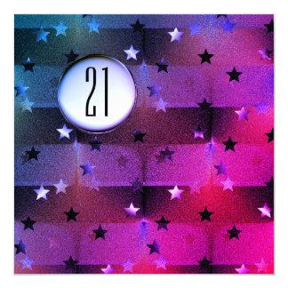 21st Birthday with Stars Card