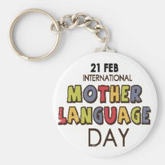 21st February - International Mother Language Day Basic Round Button Keychain