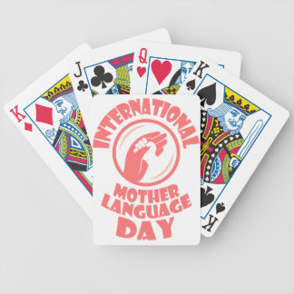 21st February - International Mother Language Day Bicycle Playing Cards