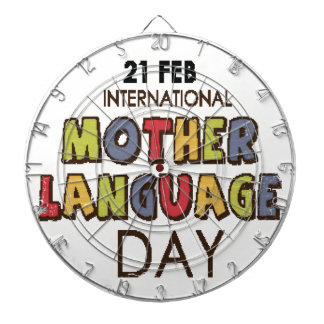 21st February - International Mother Language Day Dartboard