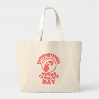 21st February - International Mother Language Day Large Tote Bag