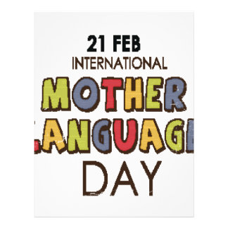 21st February - International Mother Language Day Letterhead