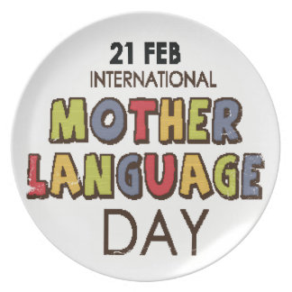 21st February - International Mother Language Day Party Plate