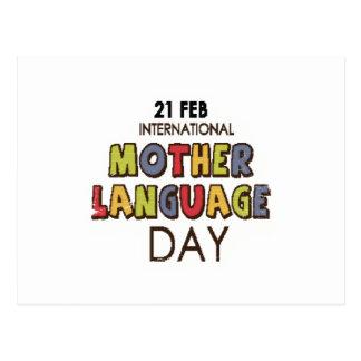 21st February - International Mother Language Day Postcard