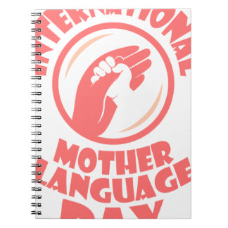 21st February - International Mother Language Day Spiral Notebook