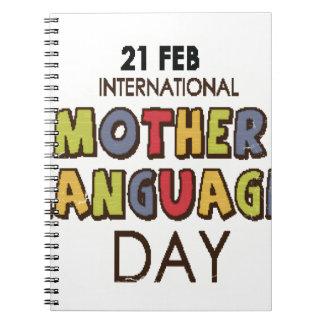 21st February - International Mother Language Day Spiral Notebooks