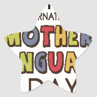21st February - International Mother Language Day Star Sticker
