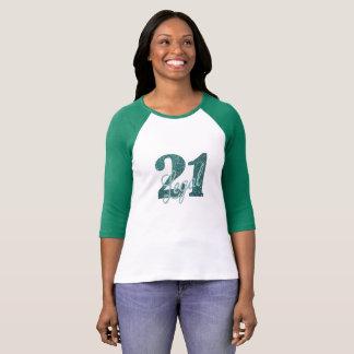 21st Green | 21 Legal Glitter Fun Birthday Party T-Shirt