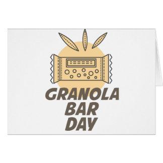21st January - Granola Bar Day Card