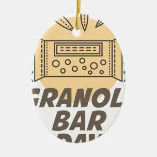21st January - Granola Bar Day Ceramic Oval Ornament