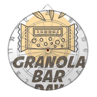 21st January - Granola Bar Day Dartboard