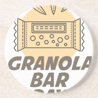 21st January - Granola Bar Day Drink Coaster