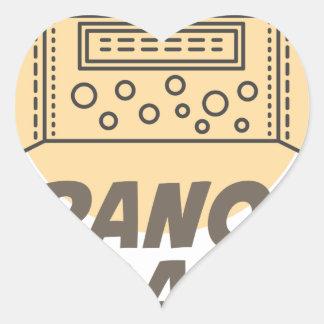 21st January - Granola Bar Day Heart Sticker